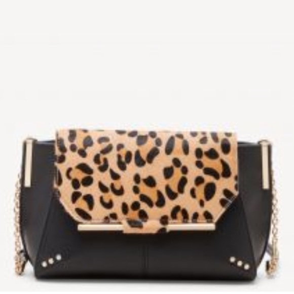 Sole Society Handbags - NWOT Leopard and Black Vegan Leather Purse